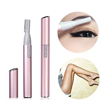 Zinnor Bikini Line Hair Trimmer Portable Electric Shaver for Women Eyebrow Face Lady Body Razor, Battery-Operated