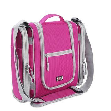 Premium Hanging Toiletry Bag Travel Toiletries Organizer Bag - Travel Makeup Cosmetic Organizer Bag Toiletry Kit for Men Women - Sexy Pink