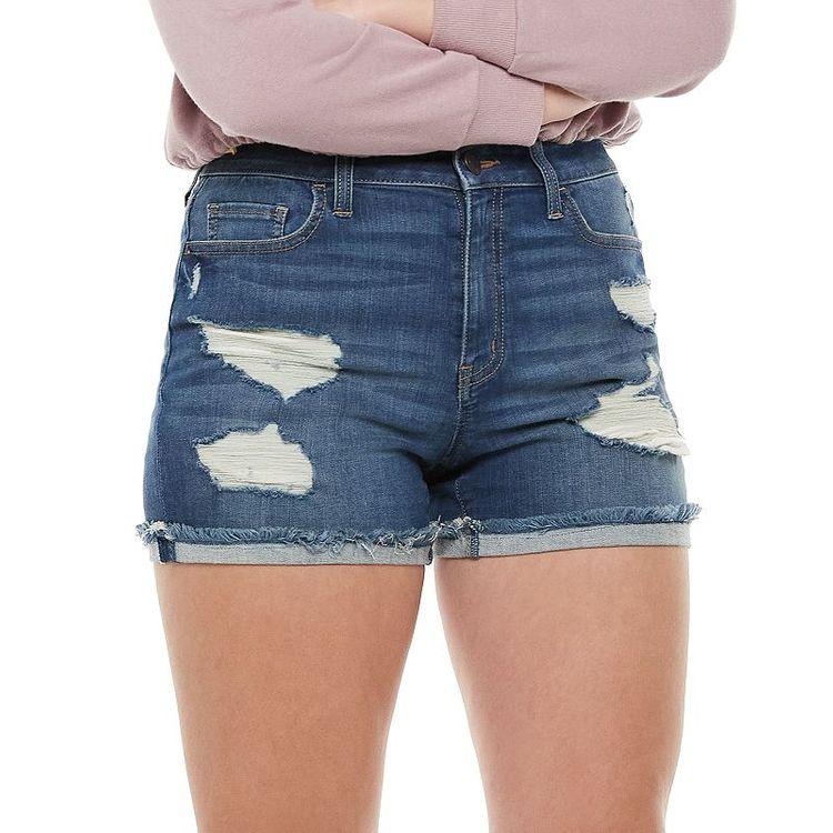 Juniors' SO® High-Rise Curvy Midi Shorts