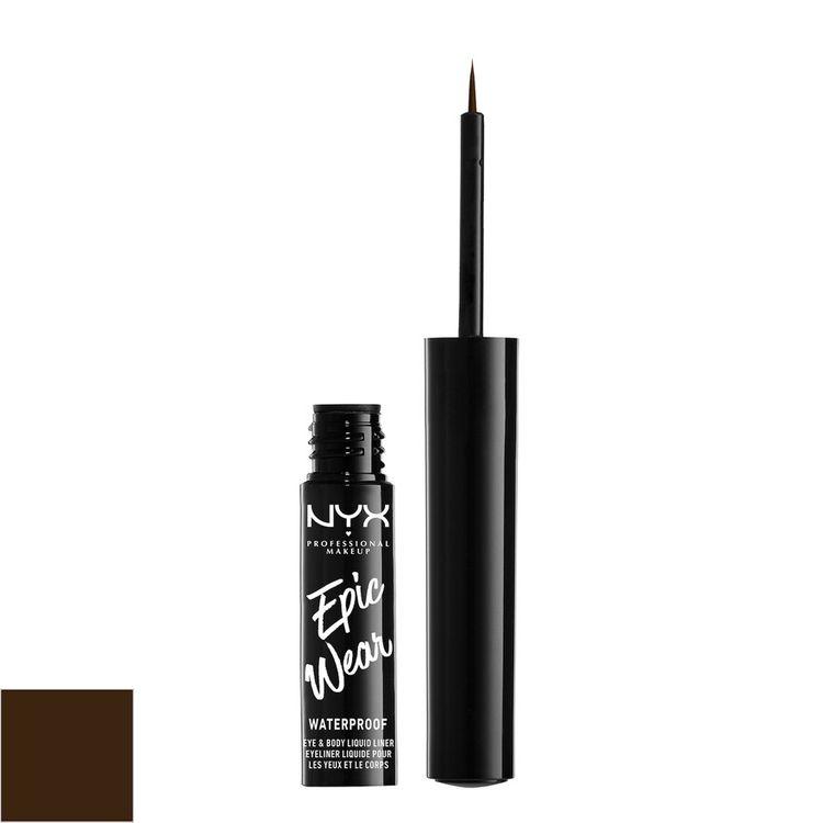 NYX Professional Makeup Epic Wear Eye & Body Long-Wear Liquid Liner Brown - 0.07 fl oz