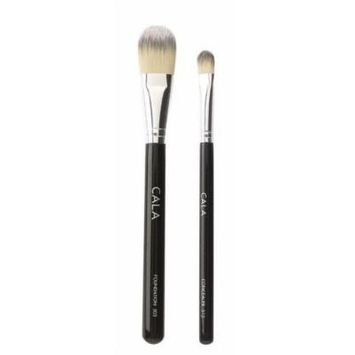Cala Lily Makeup Brushes Foundation 503 & Concealer 513 + Aviva Nail Buffer by Cala