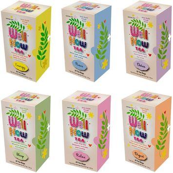 Premium Caffeine Free Herbal Soothing Tea Gift Set Bulk Variety Assortment Box Detox Digest Energy Peace Relax and Sleep 150 Tea Bag Count (6 Pack)