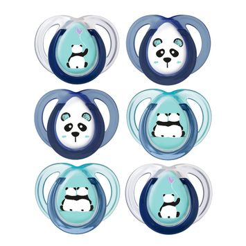 Tommee Tippee Anytime Soother (6-18 months) - 6 pack