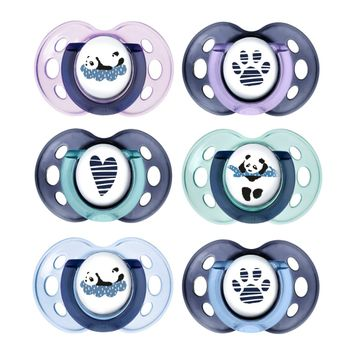 Tommee Tippee Anytime Soother, 18-36 months - 6 pack