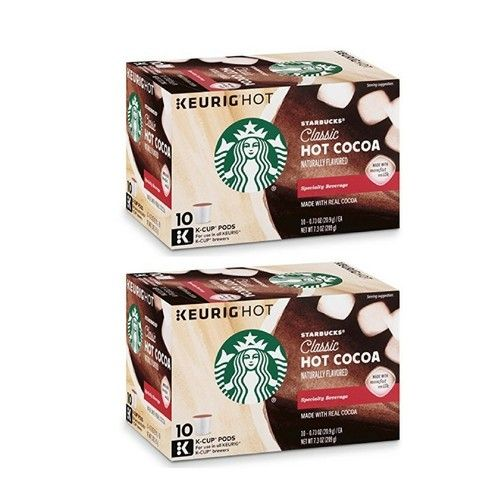 Starbucks Classic Hot Cocoa K-Cups pods, 10 count of 0.73 oz