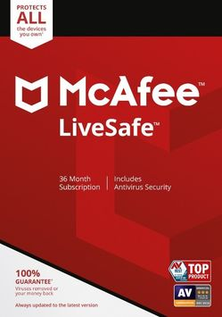Lenovo McAfee LiveSafe, 36-month Subscription, Unlimited Devices (Electronic Download)
