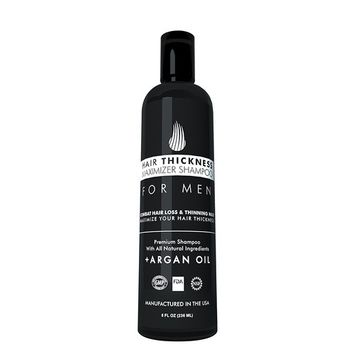Hair Growth Shampoo for Men - Hair Thickening Shampoo by Hair Thickness Maximizer. Best Treatment for Thinning/Hair Loss. Paraben Free, with Argan Oil [Unscented]