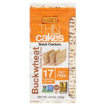 Good Groceries Company Inc Suzies, Cake Thin Buckwheat; Quinoa, 4.6 Oz (Pack Of 12)