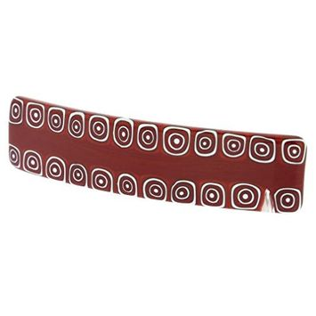GlassOfVenice Murano Glass Millefiori Hair Clip - Red