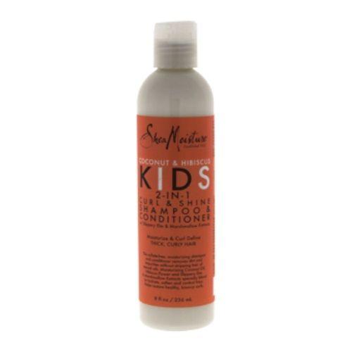 Coconut & Hibiscus Kids 2-In-1 Curl & Shine Shampoo & Conditioner by Shea Moisture for Unisex - 8 oz Shampoo & Conditioner