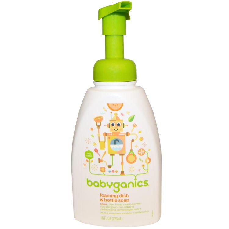 BabyGanics, Foaming Dish & Bottle Soap, Citrus