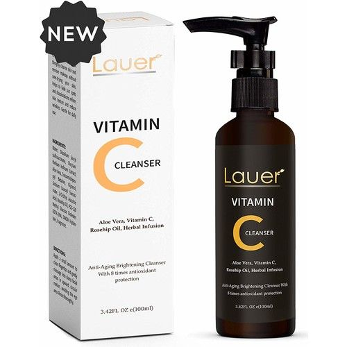 Vitamin C Facial Cleanser   Anti Aging, Breakout & Blemish, Wrinkle Reducing Acne Gel Face Wash   Clear Pores on Oily, Dry & Sensitive Skin with Organic & Natural Ingredients for Women and men
