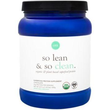 So Lean & So Clean Organic Superfood Protein - ORGANIC CHOCOLATE (22.9 Ounces Powder) by Ora Organic at the Vitamin Shoppe