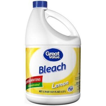 Great Value Bleach, Lemon, 121 oz
