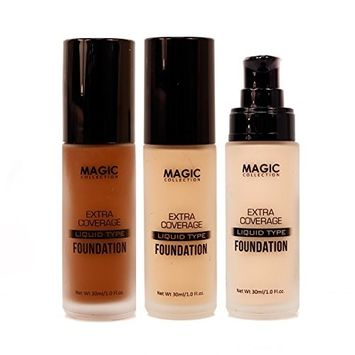 Magic Collection Extra Coverage Liquid Type Foundation 16 Colors Available 1oz