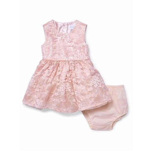 Lace Dress and Diaper Cover (Baby Girls)