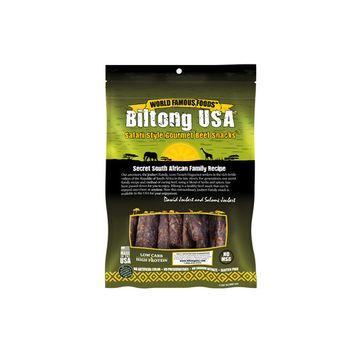 Biltong USA Grass Fed Droewors Beef Sticks, Dash of Spice Flavor, 8oz Pack