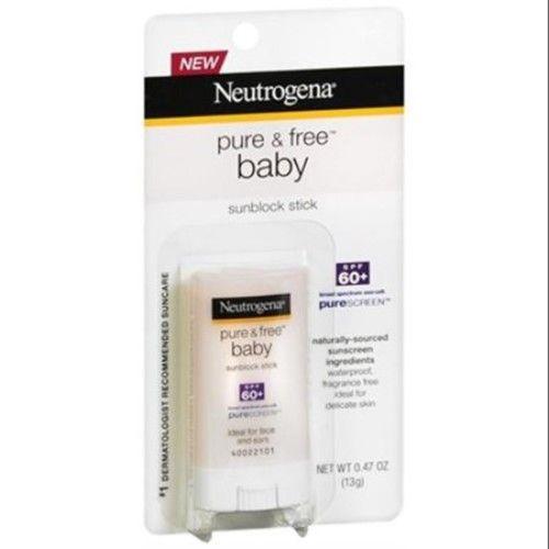 Neutrogena Baby Stick Spf 60, 0.47-Ounce Sticks (Pack of 2)