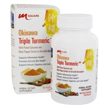 Okinawa Triple Turmeric+® with potent curcumin and black pepper extract to aid with absorption