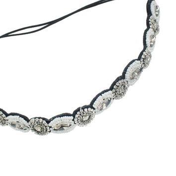 niceeshop(TM) Handmade Rhinestone Crystal Beaded Elastic Hair Band Hair Accessory