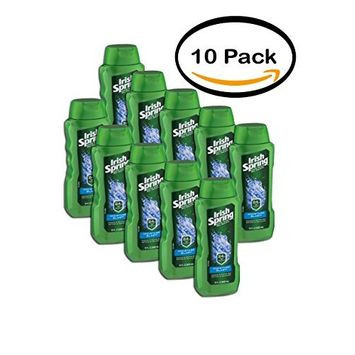 Pack of 10 - Irish Spring Moisture Blast Body Wash, 18 fl oz