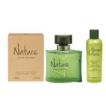 Yves Rocher 2-piece Gift Set for Men: Homme Nature Eau de Toilette, 50 ml/ Perfumed Shower Gel, 200 ml. FRANCE