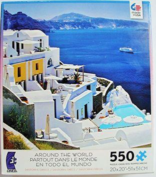 ceaco Around the World Puzzle Santorini, greece 550 Pieces