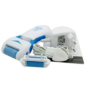 Bhbuy Electronic Callus Remover - Waterproof, Rechargeable, Cordless, Dual Speed With US Plug