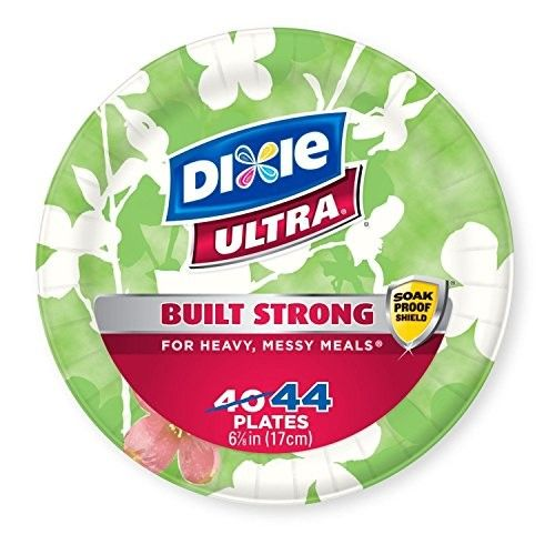 """Dixie Ultra Microwavable Paper Plates - Soak Proof Shield - Big Party Pack - Heavyweight 6 7/8"""" - 300 Plates"""