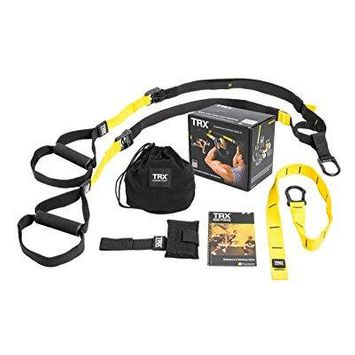 trx training suspension trainer basic kit + door anchor, complete full body workouts kit for home and on the road