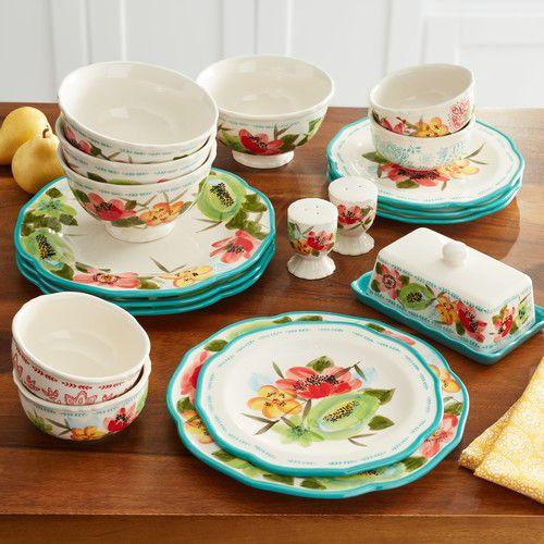 The Pioneer Woman Dinnerware Set, Vintage Bloom, 20 Pieces [name: pattern value: pattern-vintagebloom]