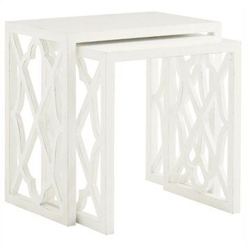 Tommy Bahama Home Ivory Key Stovell Ferry Nesting Tables in White