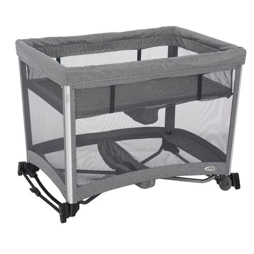 HALO 3-in-1 DreamNest Playard with Rocking Bassinet and Breathable Mesh Mattress