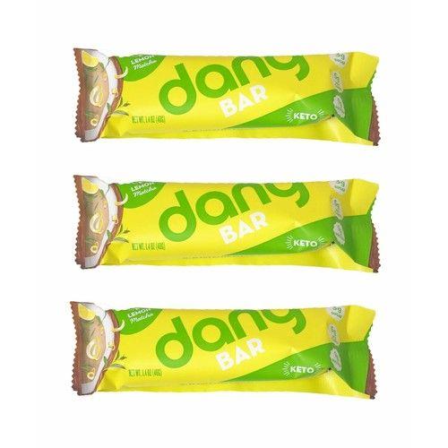 Dang Plant Based Keto Bar 1.4oz, 3 Pack (Lemon Matcha)