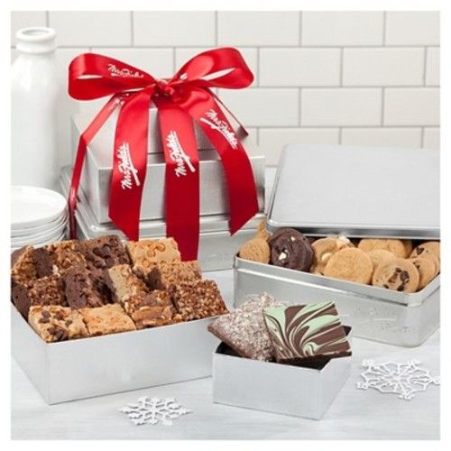 Mrs. Fields Traditional Sterling Bundle Of Treats Includes 48 Nibblers Bite-Sized Cookies-12 Brownies