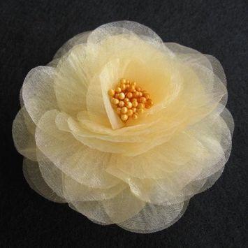 Sara Monica Flower Hair Clip and Pin Beauty_Black