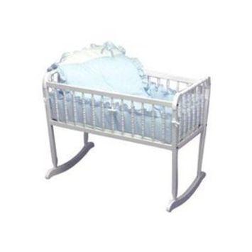 Babydoll Pretty Pique Cradle Bedding, Blue, 18