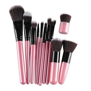 Creazy 11Pcs Cosmetic Brush Makeup Brush Sets Kits Tools [Pink]