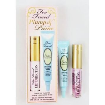 Too Faced Lip Injection & Insurance Eyeshadow Primer Plump & Prime Deluxe Travel Set NIB