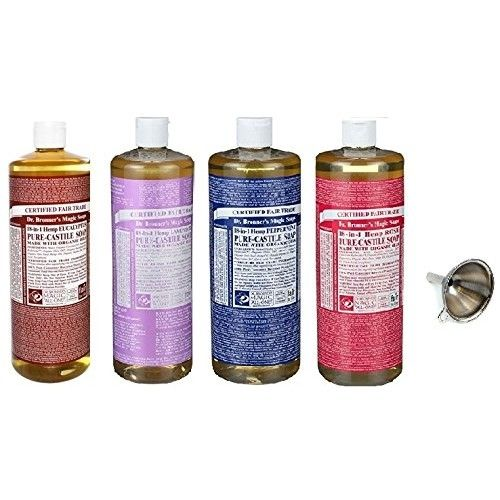 Dr. Bronner's Pure Castile Soap 4 Rainbow Variety Pack, 32 oz