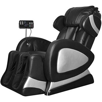 Anself Electric Full Body Massage Chair with Super Screen Black