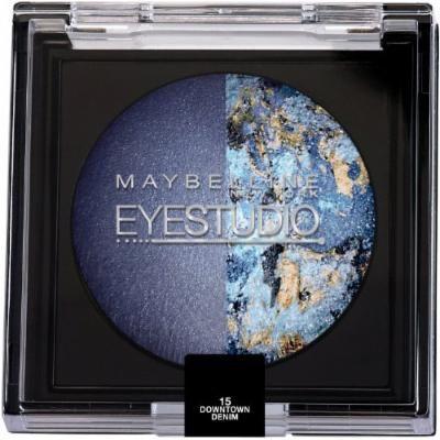 Maybelline New York Eye Studio Color Pearls Marbleized Eyeshadow, Duo Downtown Denim, 0.09 Ounce (Pack of 2)