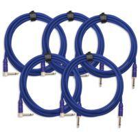 5x Set Trendline Inst-3B câble à instrument 3m bleu