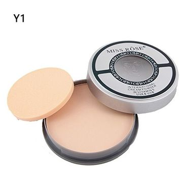 Ownsig Matte Concealer Pressed Powder With Puff Brightening Shadow Contour Natural Face Powder Y1