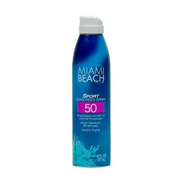 Miami Beach SPORT SUNSCREEN SPRAY, SPF 50, 6OZ