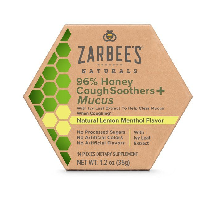 Zarbee's 96% Honey Cough Soothers + Mucus*