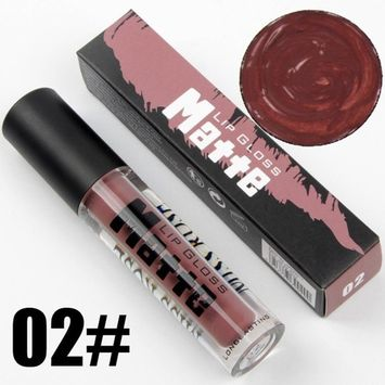 Exteren 12 Colors Waterproof Matte Makeup Lip Gloss Long Lasting Natural Lipstick Sand Pigment