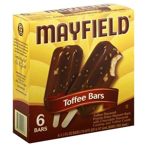 Dean Foods Mayfield Toffee Bars, 6 ea