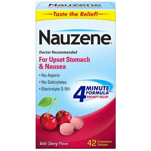 Nauzene Nausea Relief Chewable Tablets Wild Cherry Flavor, 42 CT