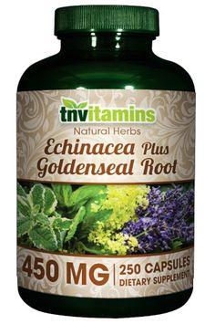 Tnvitamins Echinacea Plus Goldenseal Root - 250 Capsules